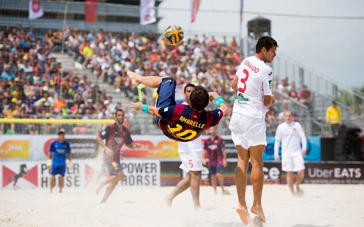 El FC Barcelona, a la conquesta del IV Mundialet de Clubs de Beach Soccer