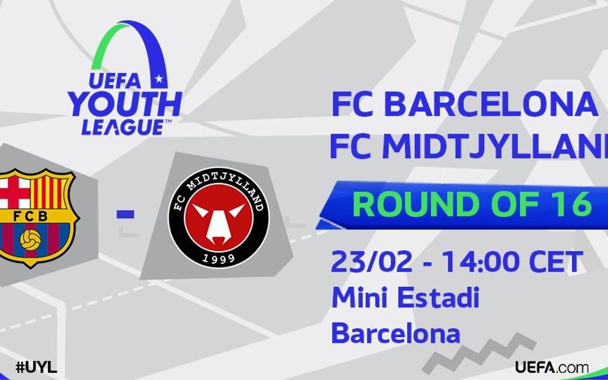 El FC Barcelona – FC Midtjylland de la Youth League serà dimarts a les 14 hores al Mini