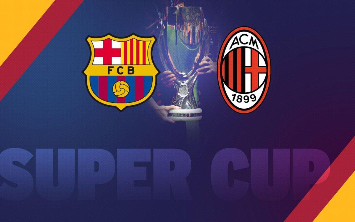 El FC Barcelona iguala l'AC Milan amb cinc Supercopes d'Europa