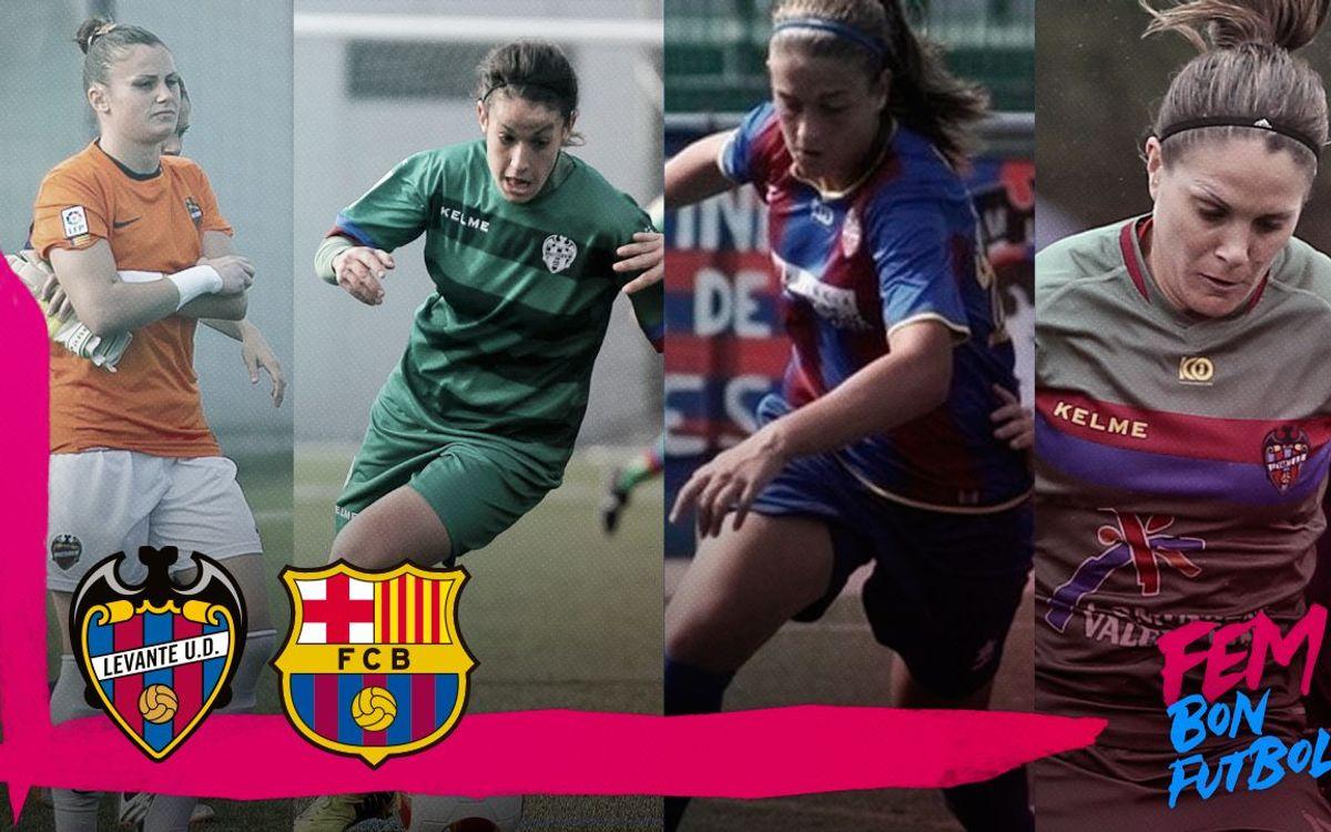 Las cuatro ex granota del FC Barcelona Femenino