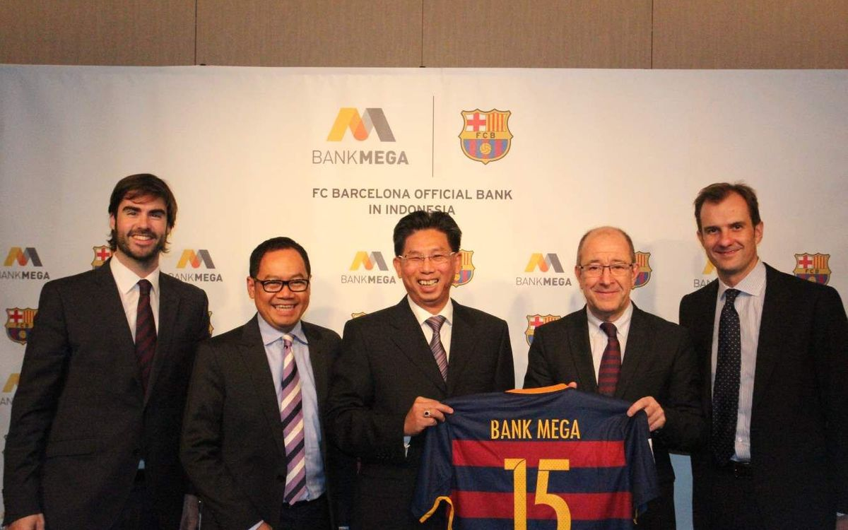 Bank Mega, official FC Barcelona bank in Indonesia