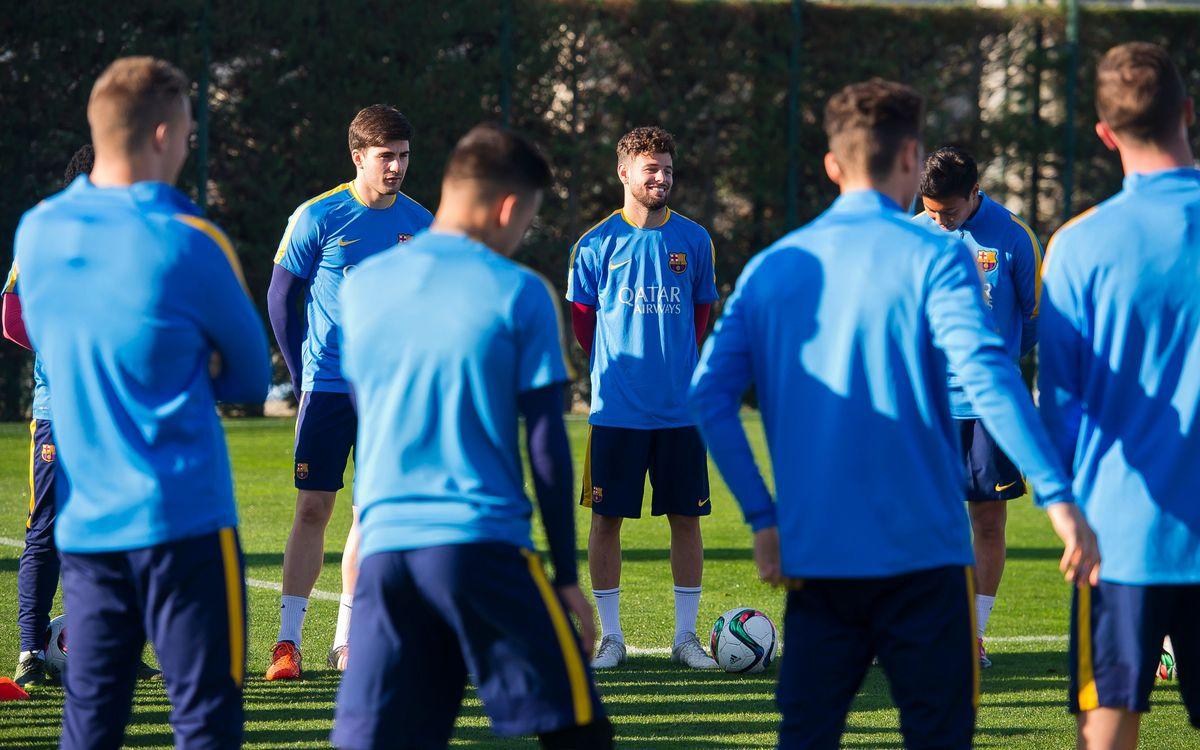 Moisés i Xemi ja s'entrenen amb els seus companys a la Ciutat Esportiva
