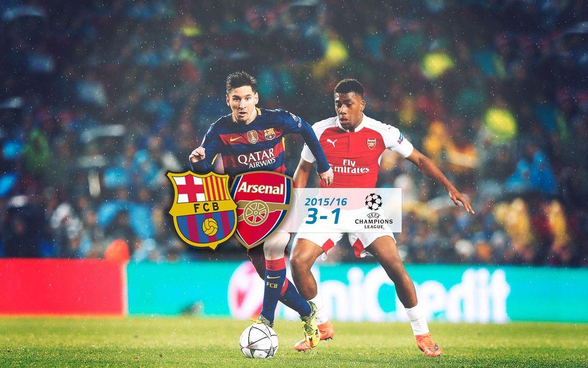FC Barcelona: 3 - Arsenal: 1 (Champions League)