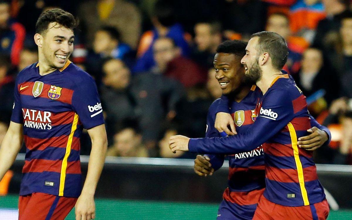 Barça, Copa del Rey finalists