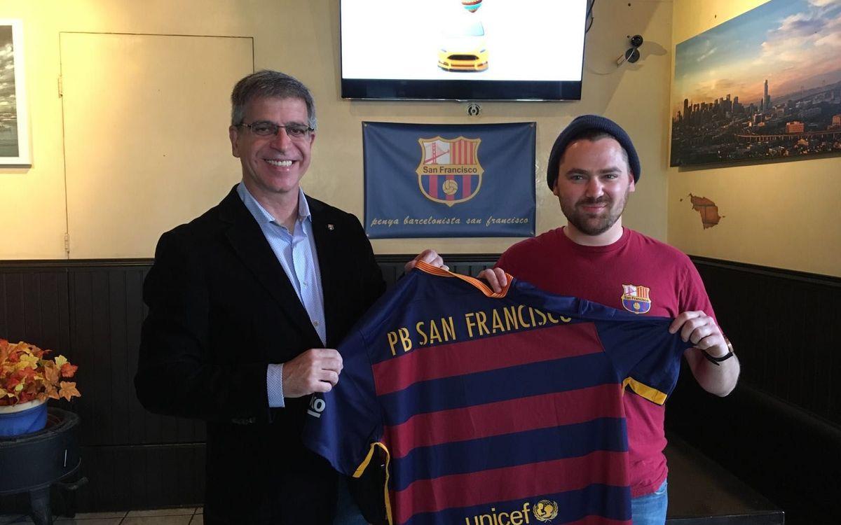 Jordi Mestre, con la peña de San Francisco