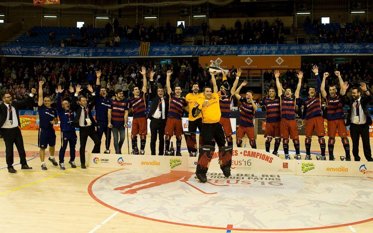 La primera Copa como capitán, el título 59 de Aitor Egurrola con el Barça de hockey