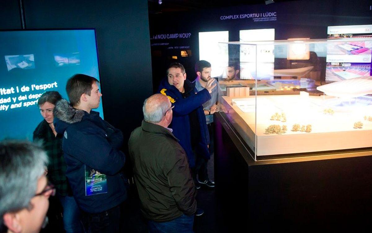 Empiezan las visitas guiadas a la Exposición del Espai Barça