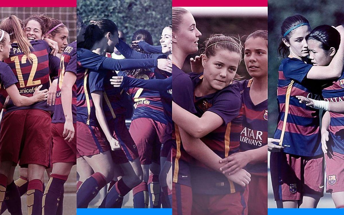 Los cuatro equipos femeninos, invictos en la Liga