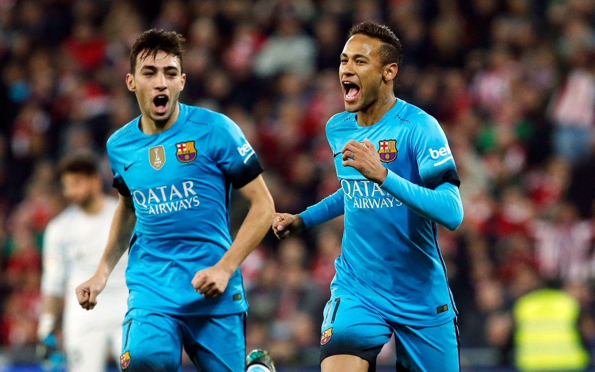 FC Barcelona escape San Mamés with 2–1 victory