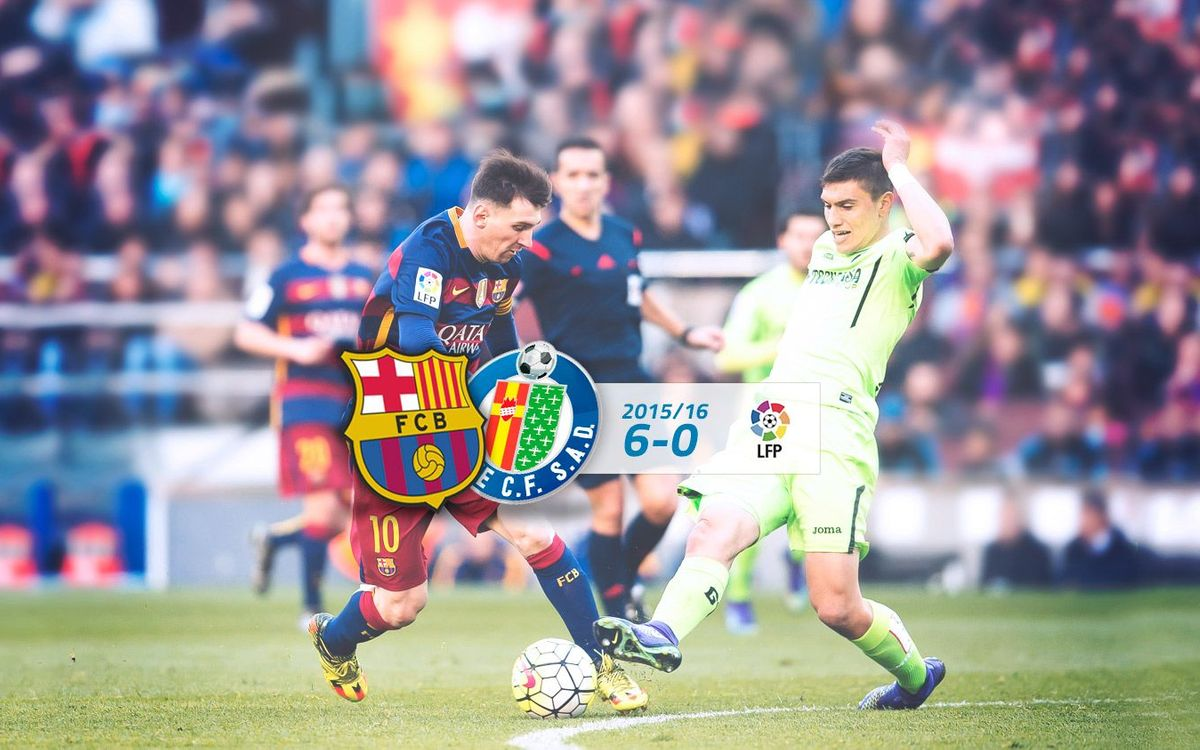 FC Barcelona: 6 - Getafe: 0