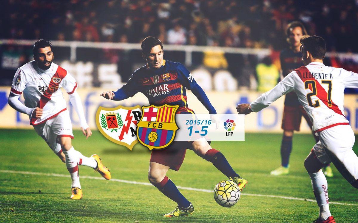 Rayo Vallecano: 1 - FC Barcelona: 5