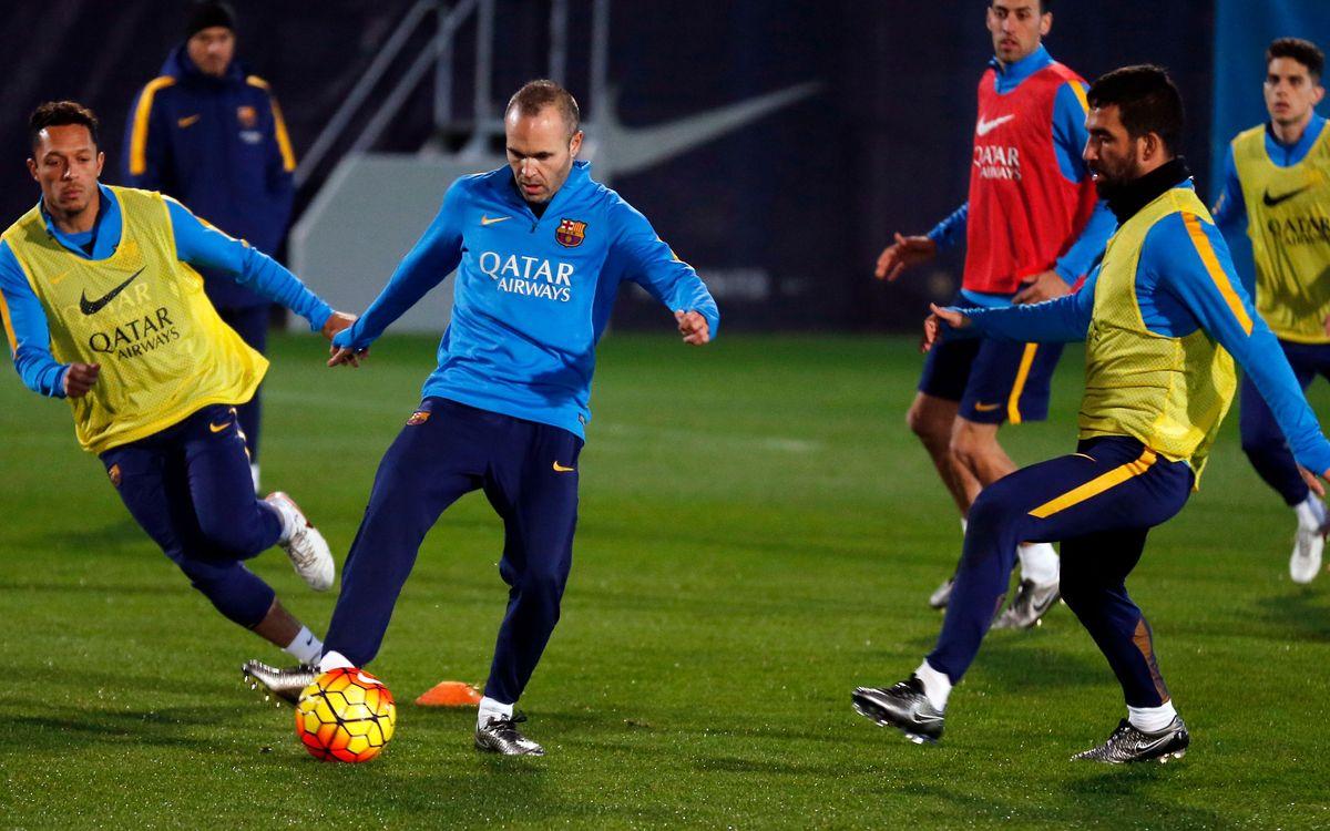 El plan de entrenamientos de una semana con Liga y Copa del Rey