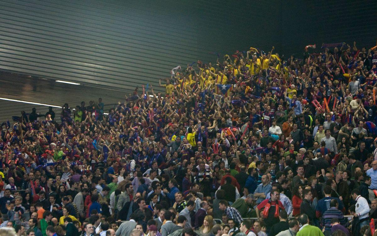800 barcelonistes donaran suport a l'equip a la Copa del Rei