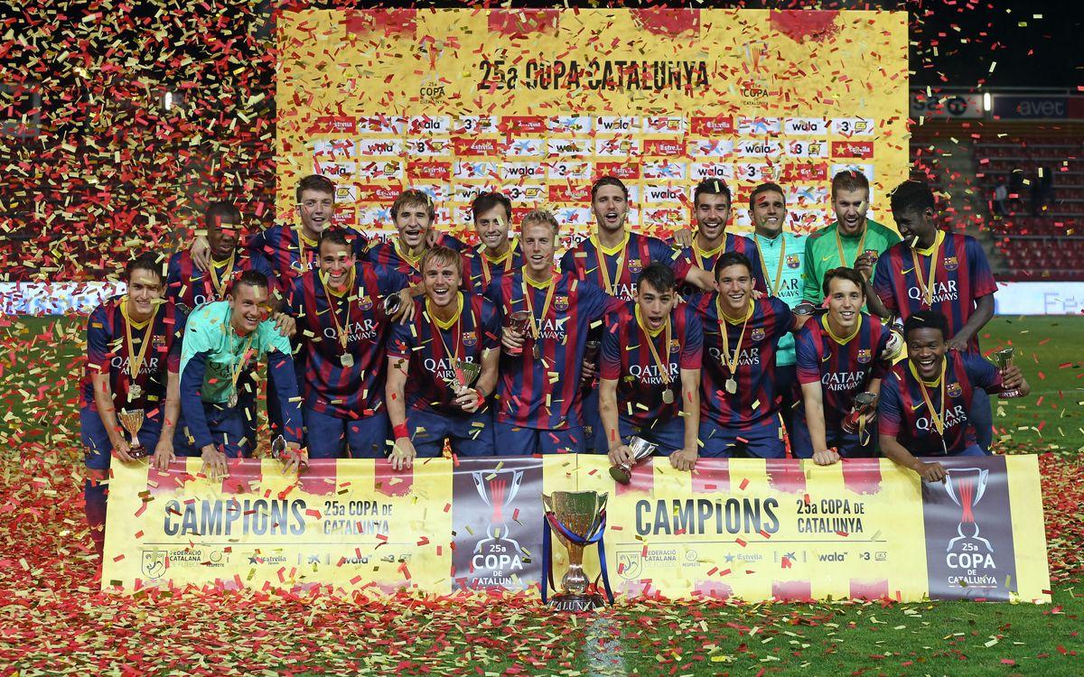 CE Sabadell-Barça B: Volen alçar la novena Copa Catalunya i dedicar-la a Cruyff