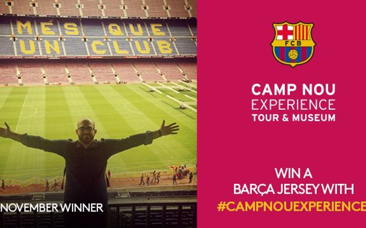 November winner of Camp Nou Experience competition