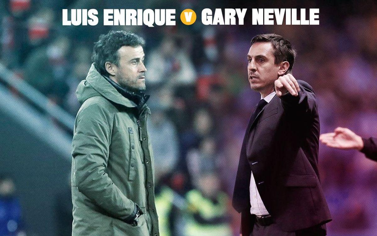 Head to head: Luis Enrique v Gary Neville