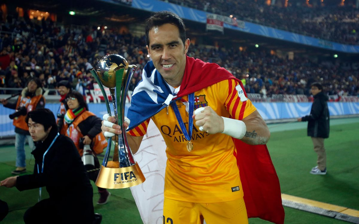Claudio Bravo, six titles in 2015