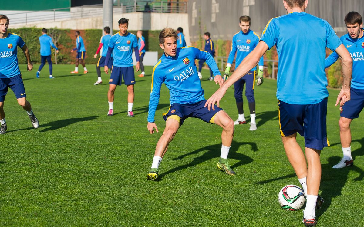 FC Barcelona B return to training after Christmas break