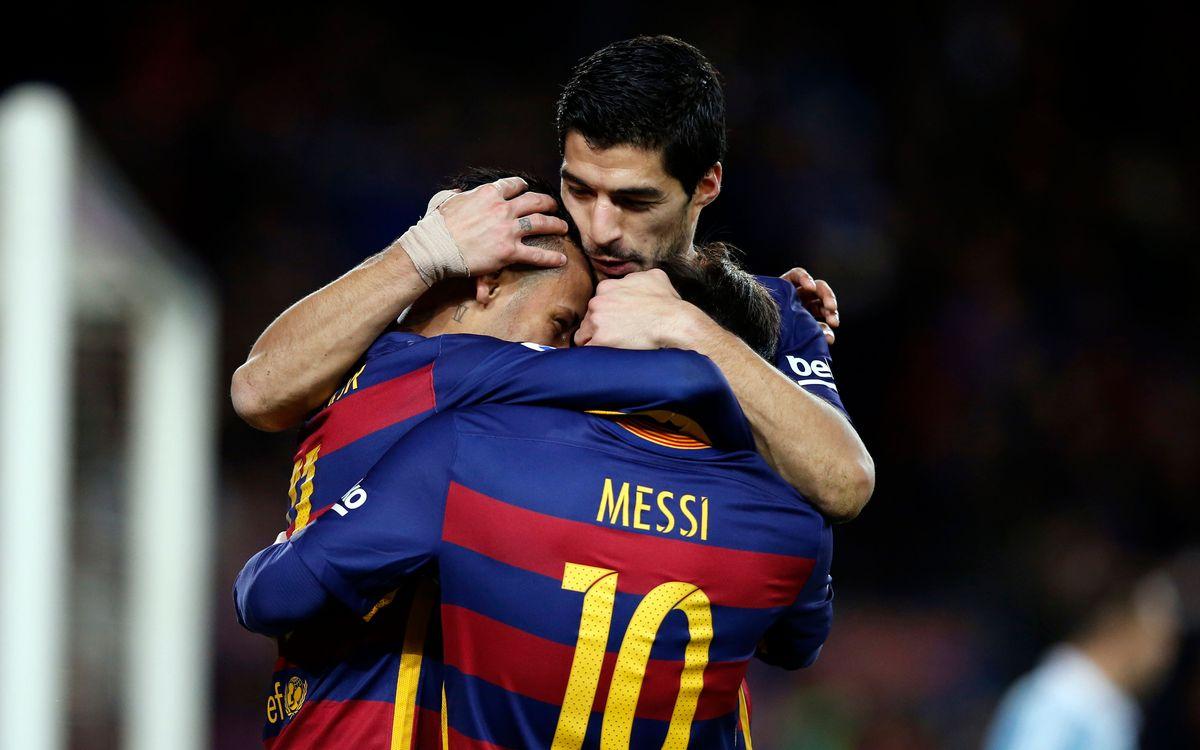FC Barcelona's trident deep-sixes Celta (6-1)