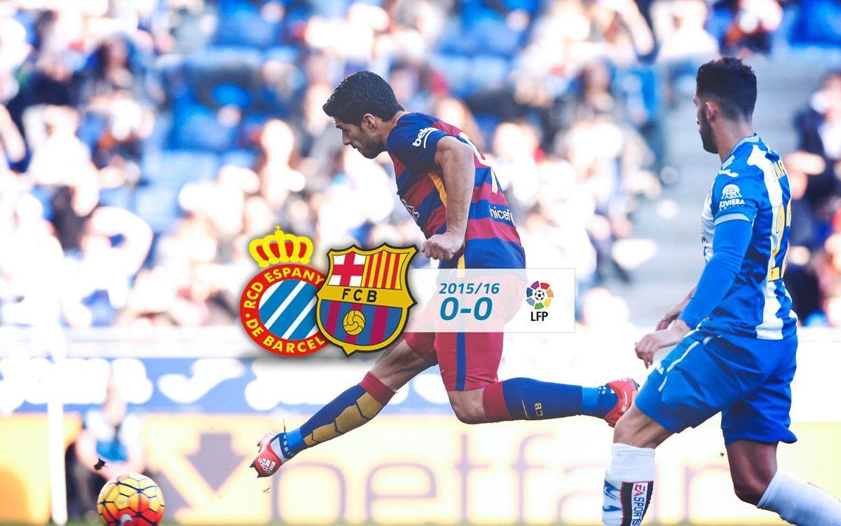 Espanyol: 0 - FC Barcelona: 0