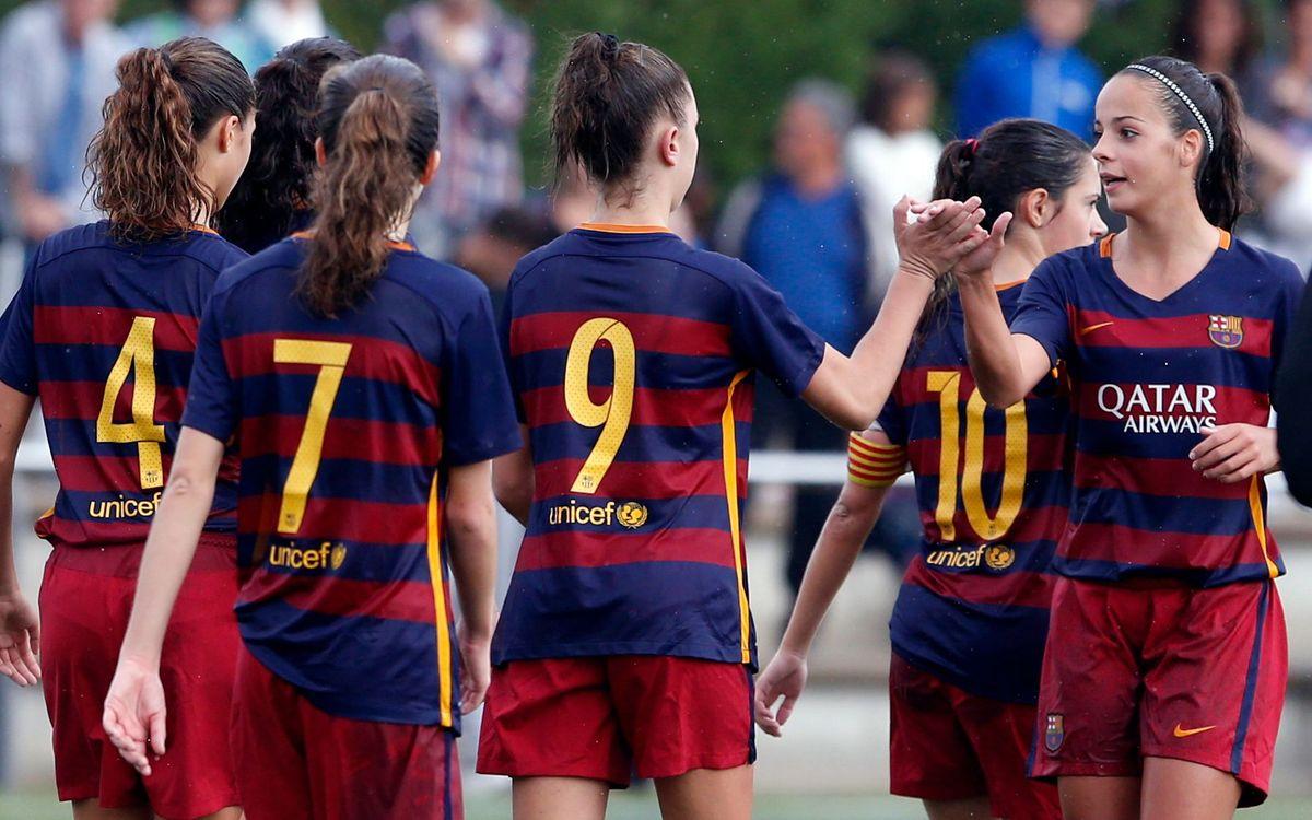 Goleada del filial en Pallejà (0-6)