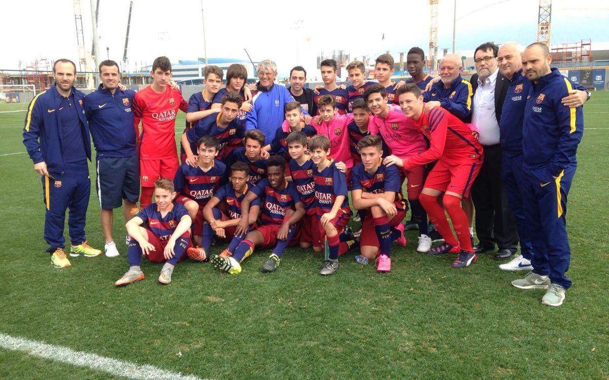 El Infantil A gana a la Aspire Football Dreams en el segundo partido amistoso