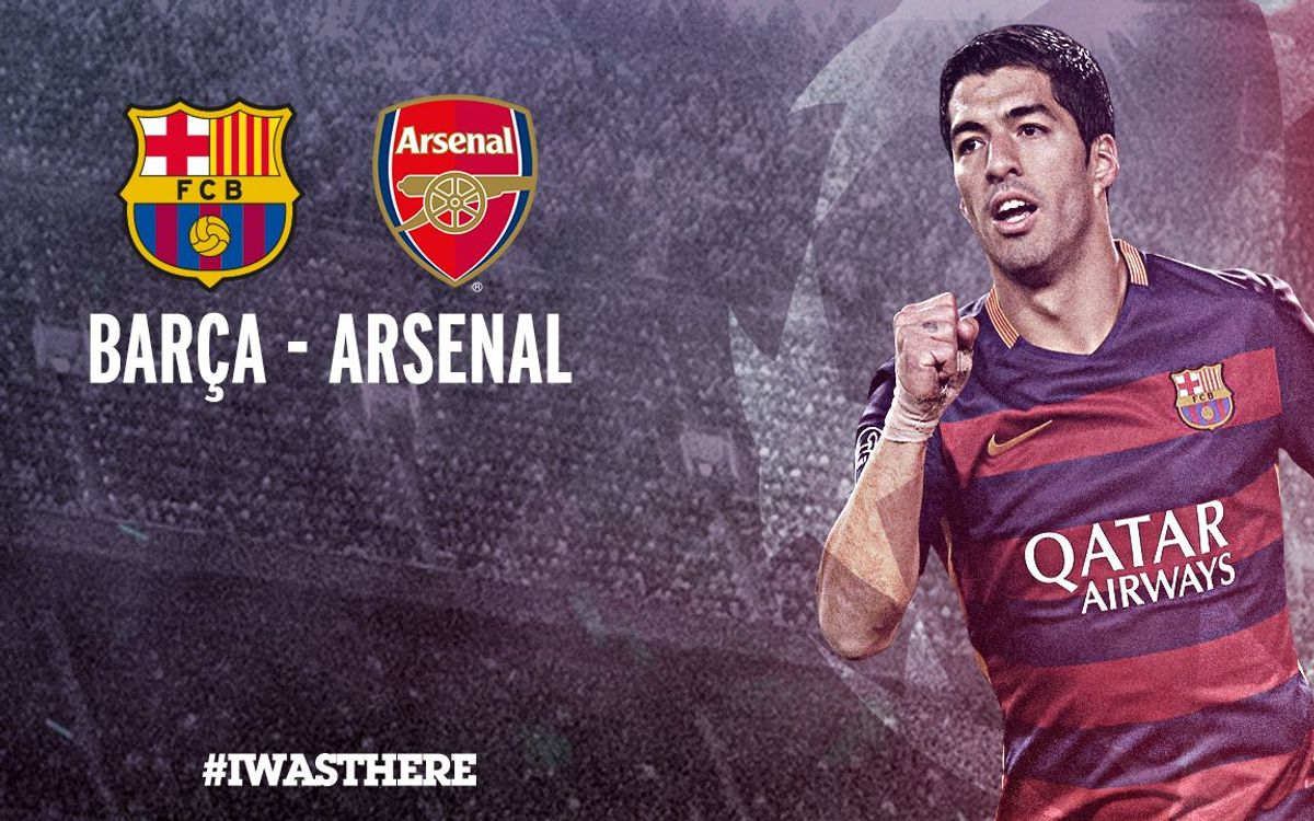 Tickets for Barça v Arsenal, on sale beginning today, Monday