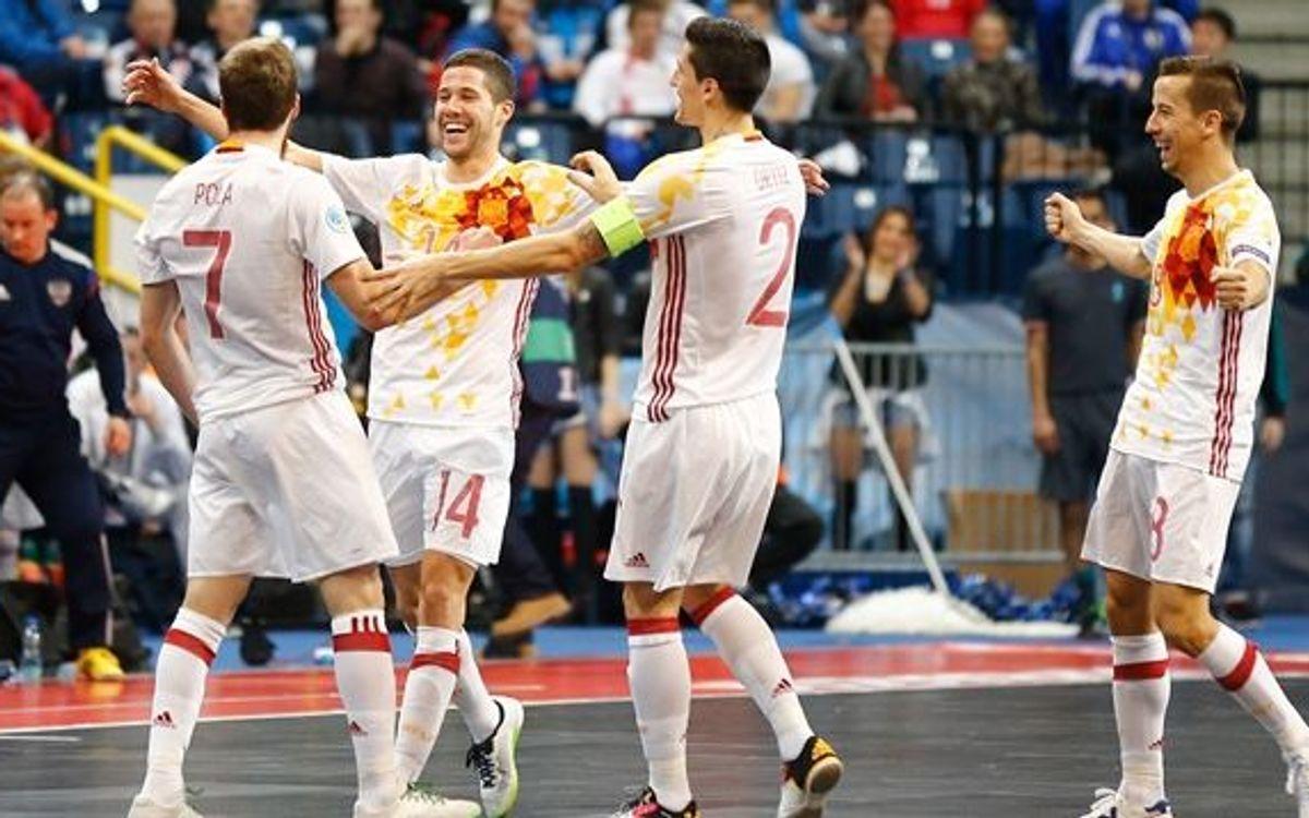 La España de Paco Sedano y Lin se proclama campeona de Europa de fútbol sala