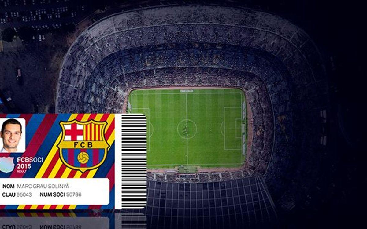 El Barça – Celta del 14 de febrero, último partido con el carnet de socio del 2015