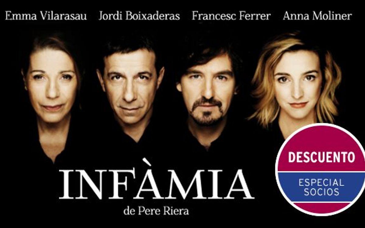 'Infàmia', en la Villarroel con descuento especial para socios del FCB