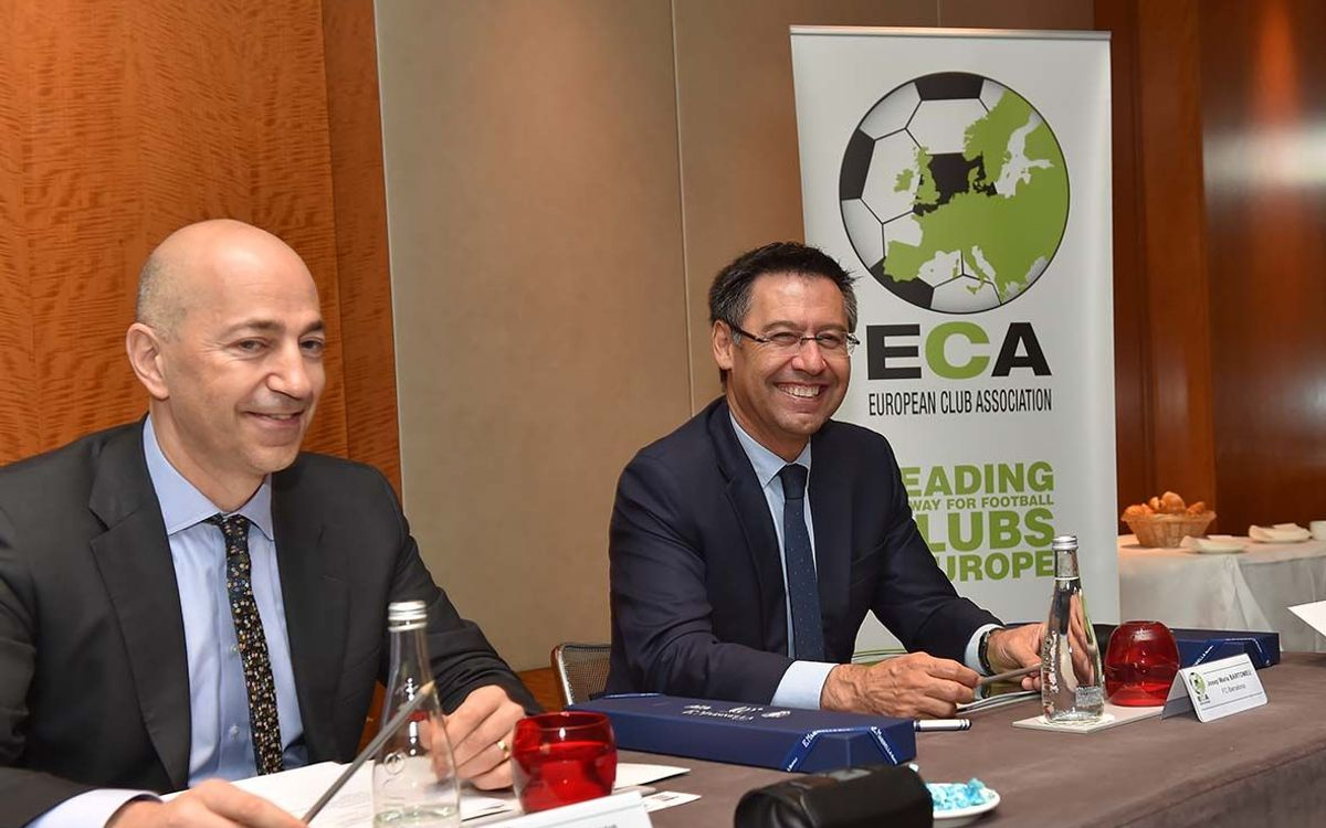 Josep Maria Bartomeu at the ECA General Assembly in Paris