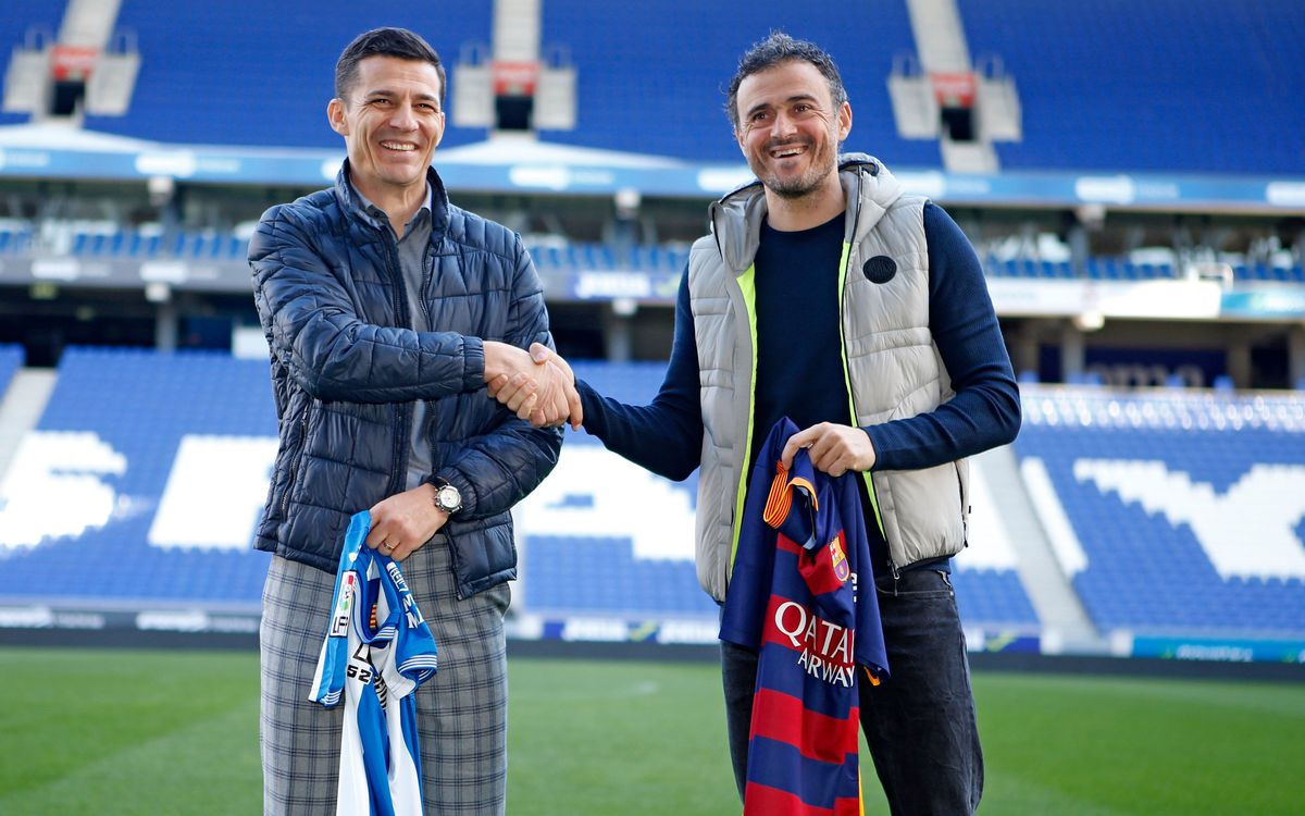 Luis Enrique and Constantin Galca meet up ahead of Cup derby