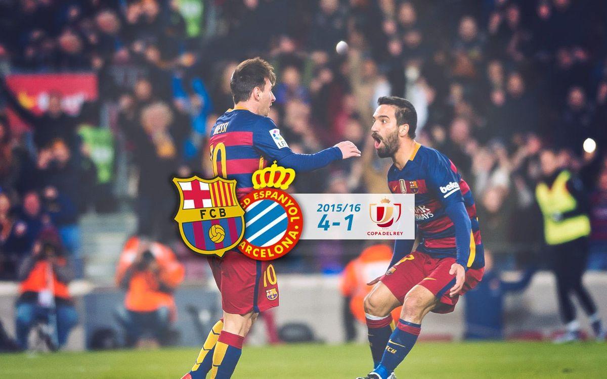FC Barcelona: 4 - Espanyol: 1