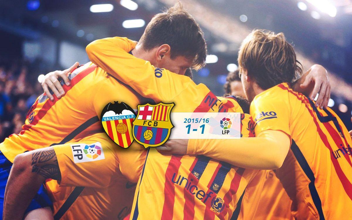Valencia: 1 - FC Barcelona: 1