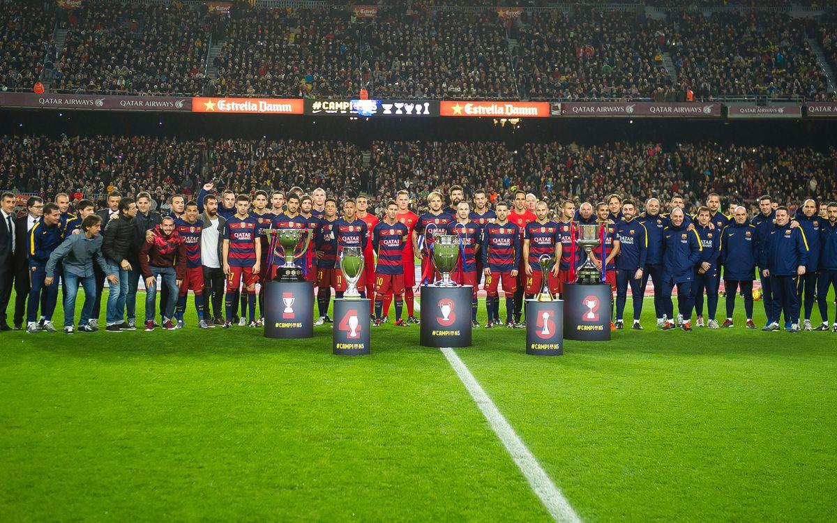 El FC Barcelona, mejor club del 2015 según la IFFHS