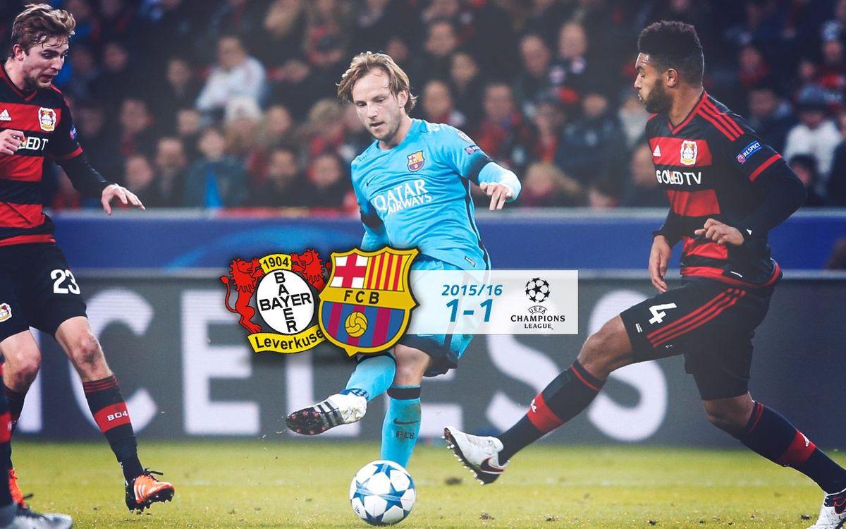 Bayer Leverkusen: 1 - FC Barcelona: 1