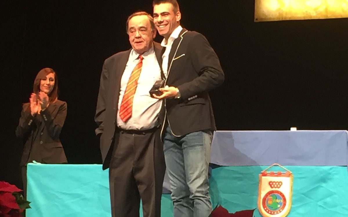 Sergio Lozano, premiat per la Federació Madrilenya de futbol sala