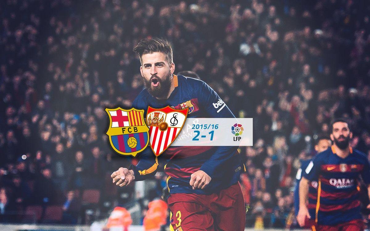 FC Barcelona: 2 - Sevilla FC: 1