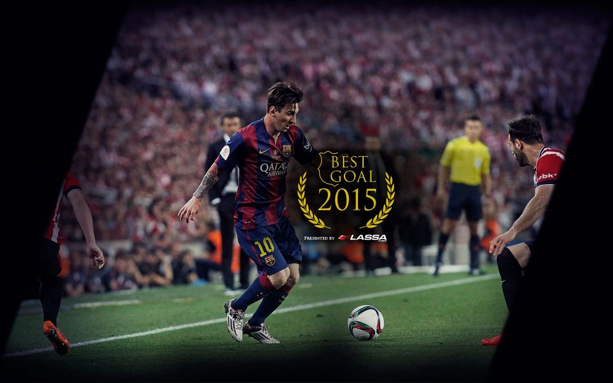 It's official: Messi scored the best goal of 2015