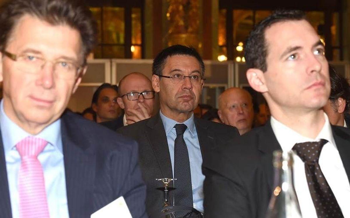 Bartomeu, present en l'assamblea de l'ECA a París