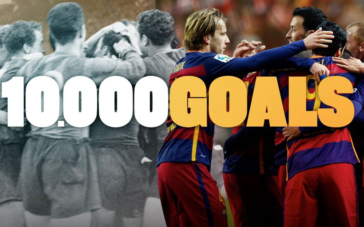 Barça reach 10,000 goals in official competition