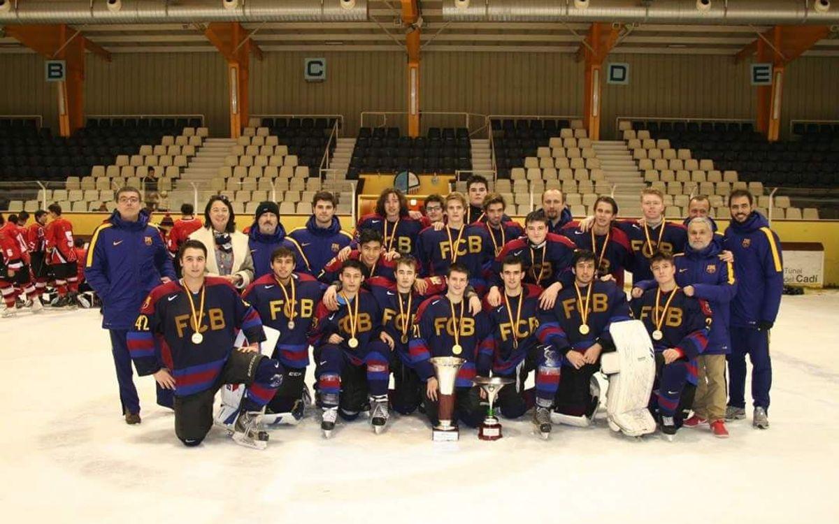 Los Sub 20 de hockey hielo, campeón de la Copa del Príncipe