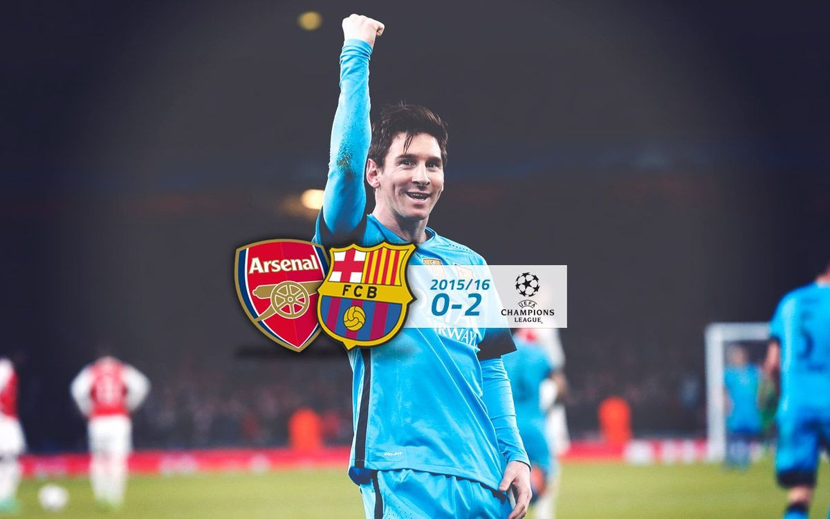 Arsenal: 0 - FC Barcelona: 2 (Champions League)