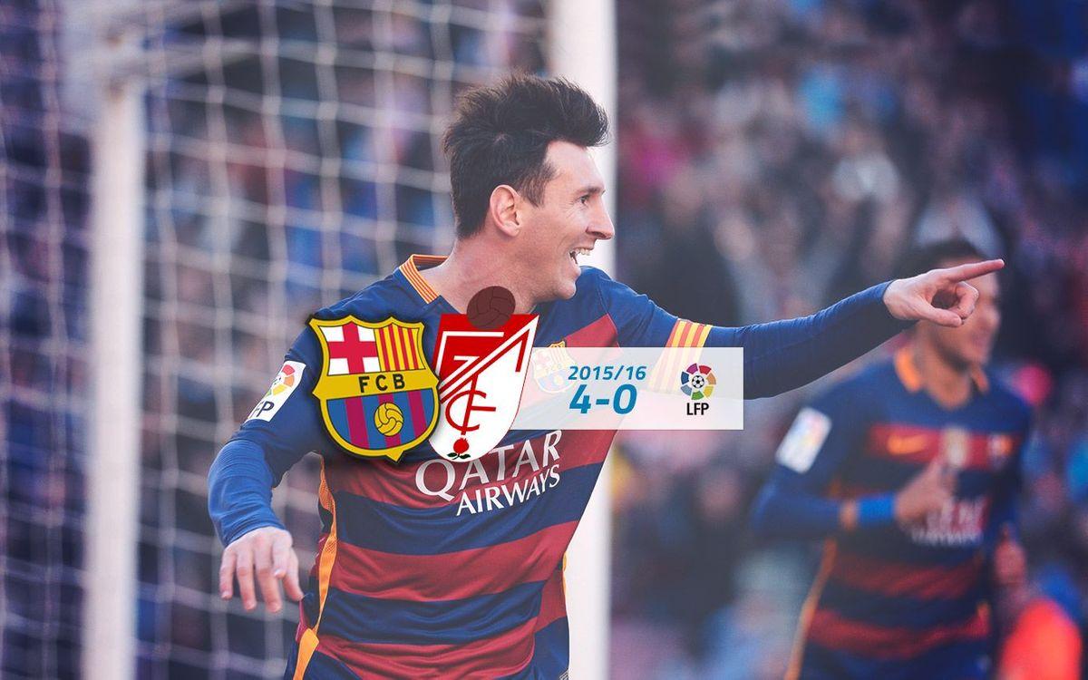 FC Barcelona: 4 - Granada: 0