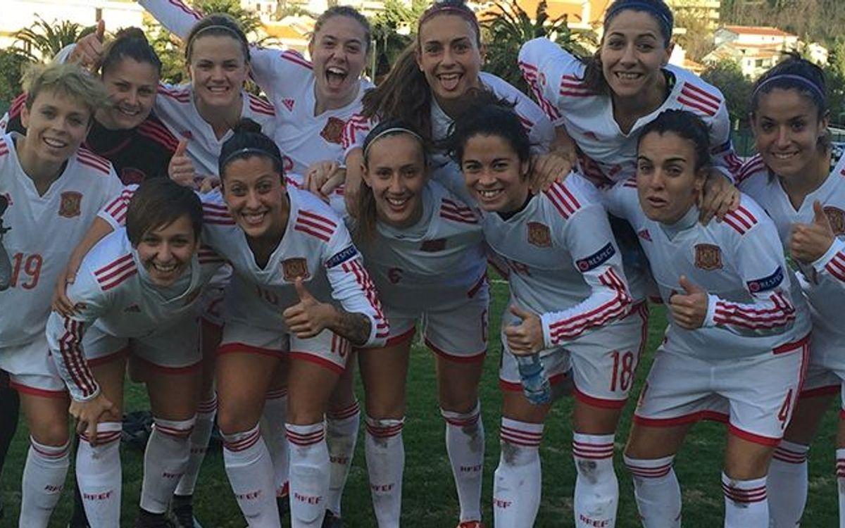 Seis azulgranas convocadas por la selección española