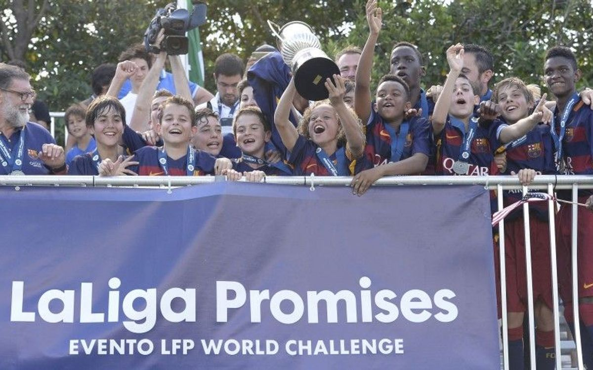 FC Barcelona U14 B team win LaLiga Promises tournament