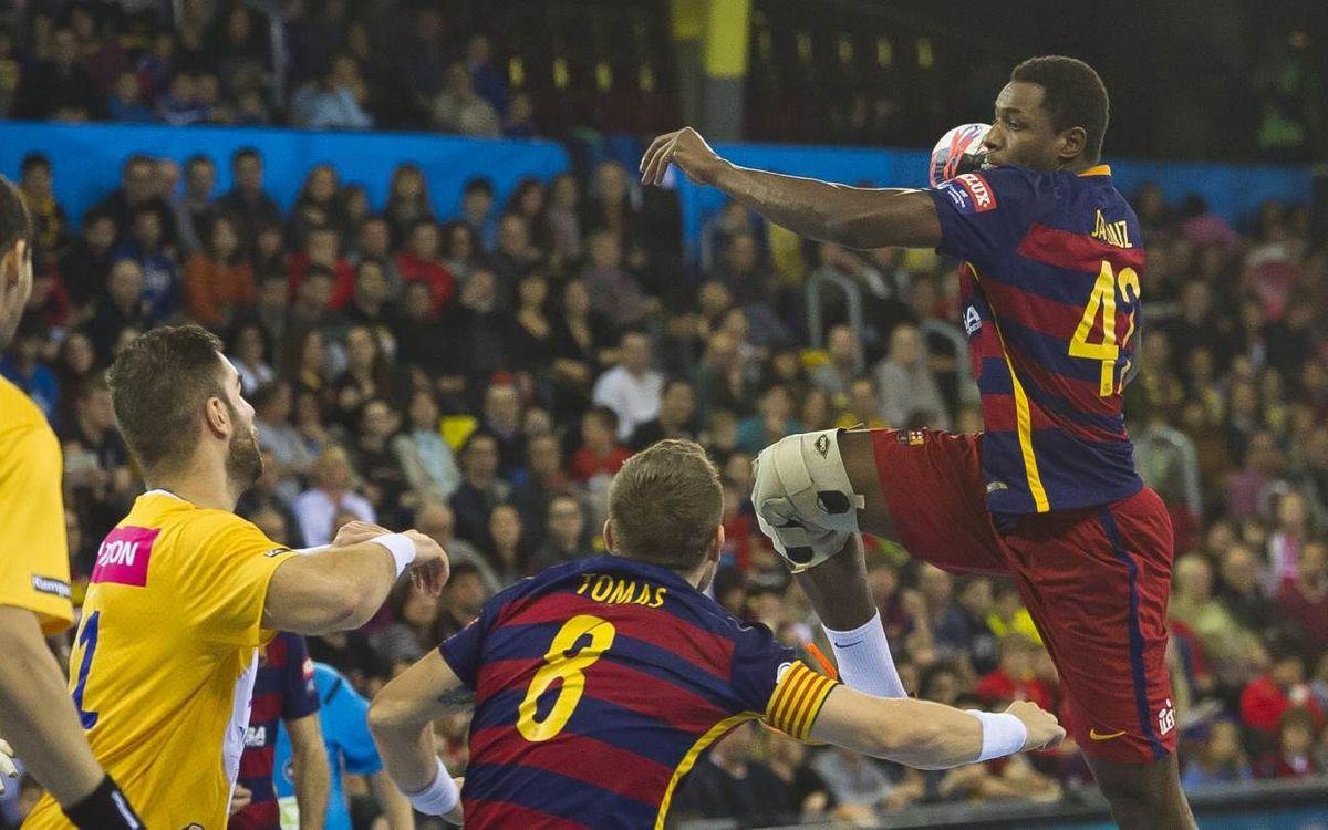 ¿Qué hacen los jugadores del Barça Lassa de balonmano?