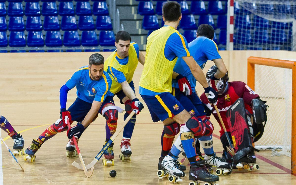 El Barça Lassa d'hoquei patins torna als entrenaments després de les vacances de Nadal