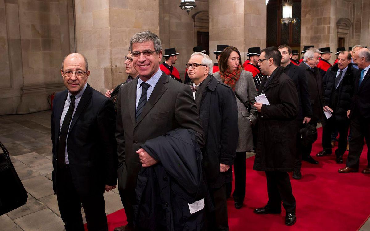 El FC Barcelona, presente en el acto de posesión del Presidente de la Generalitat