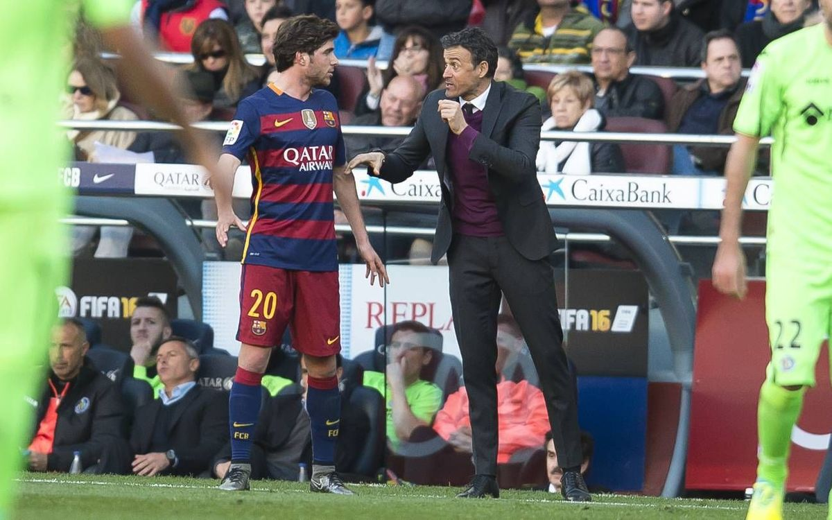 Sergi Roberto thanks Luis Enrique for the chance to shine